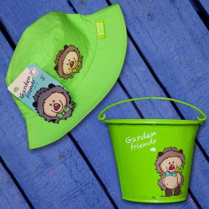 Green Kiddies Bucket and Hat Set