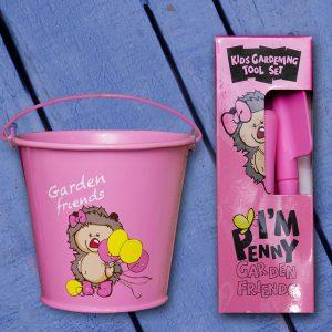 Pink Kiddies Tool and Bucket Set