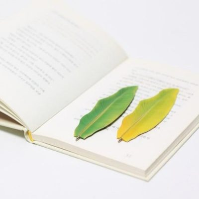 Banana Leaf Bookmark Pen Set