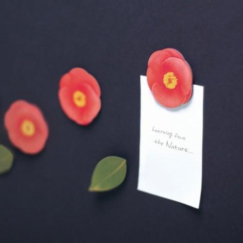 Leaf Magnet Camellia Red3