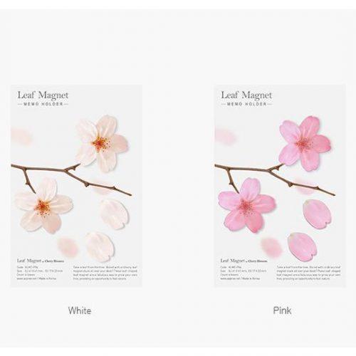 Leaf Magnet Cherry Blossom Pink4