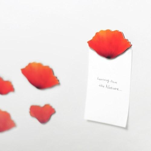 Leaf Magnet Poppy Red4