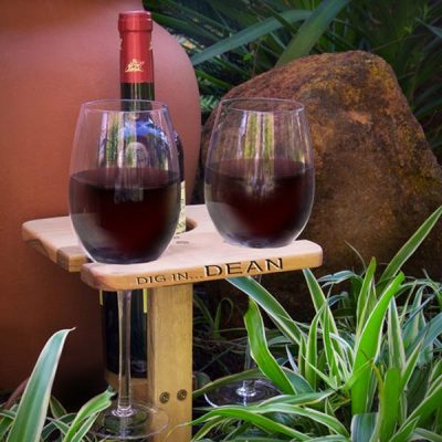 Wine Holder with Glasses
