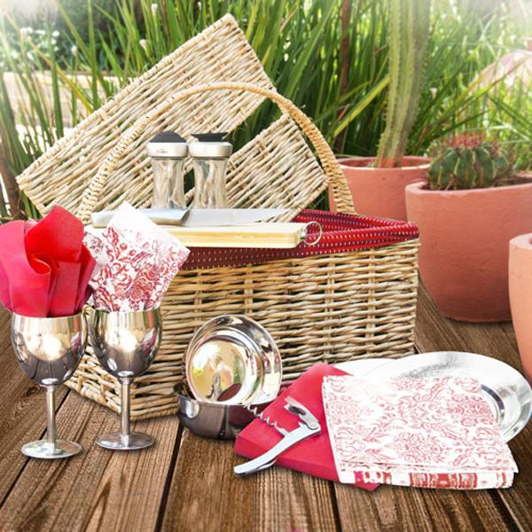 Red Lined Basket