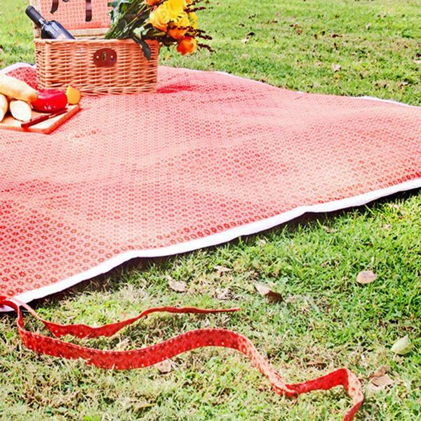 Orange picnic blanket