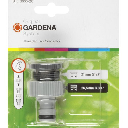 GD-0007 (6005 Gardena Tap Connector, 26.5mm_21mm) In Packaging