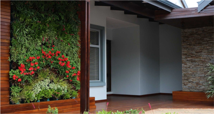 Vertical Gardens with Vicinity Greenwalls