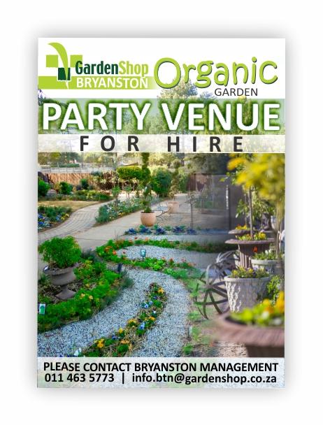 Party venue for hire!