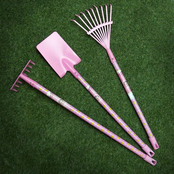 Pink kids tool set