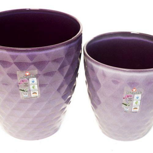 69 SC Pot Cover 632 Orchid Pot Amythest 15cm,17cm