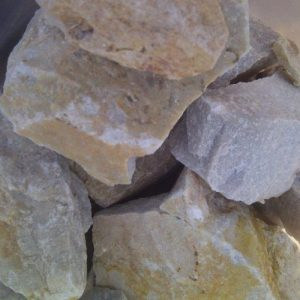 Pebble Dump Rock White
