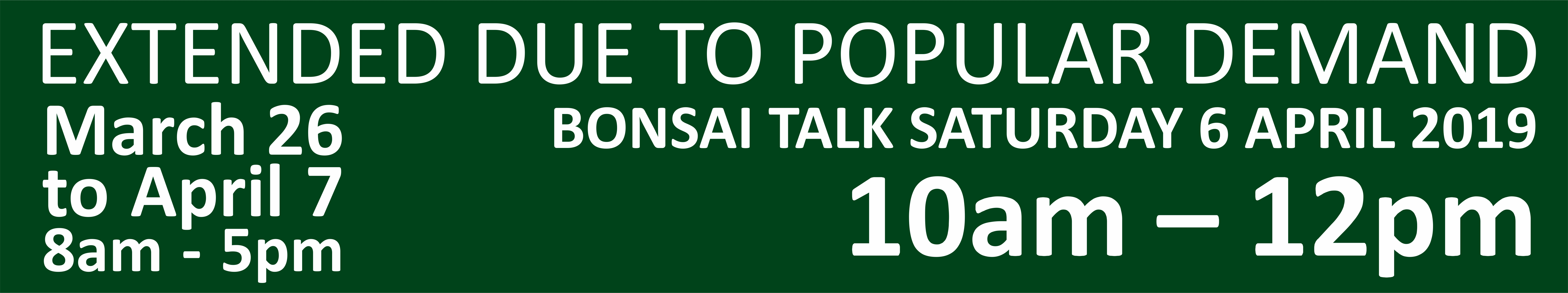 BONSAI BDS 2019 EXTENDED