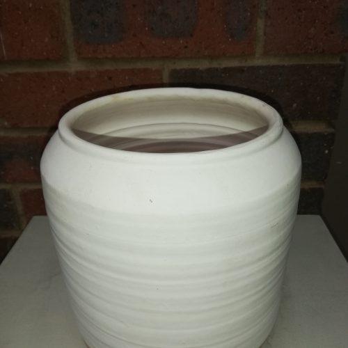 silk ceramic vase