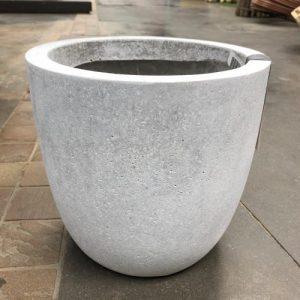 Hadeco Planter Egg Grey