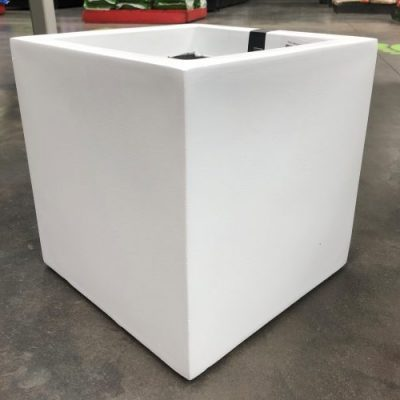 Hadeco Planter Square White Medium