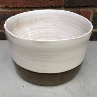 Silk Ceramic Pot White