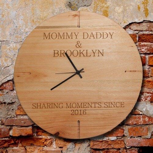 Wooden Personalised Clock