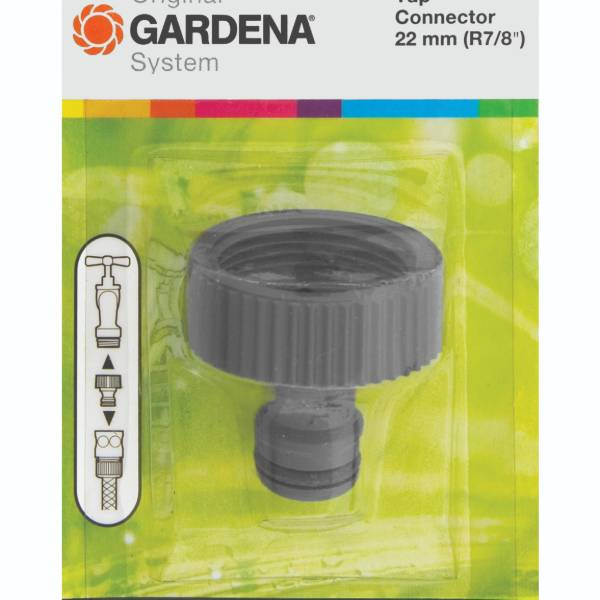 6004 (Gardena Threaded Tap Connector 22mm In Packaging
