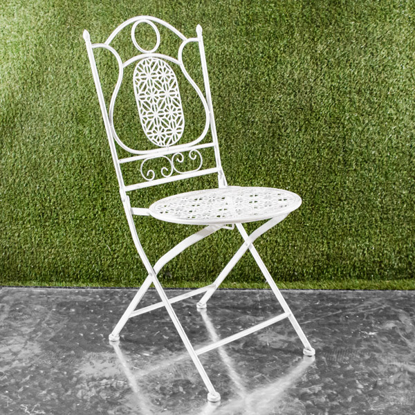 70007109 - Da Chair White Patterned