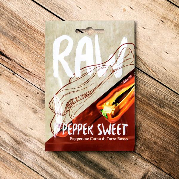 70048914 - Raw - Pepper Sweet Pepperone Corno Di Torro Rosso
