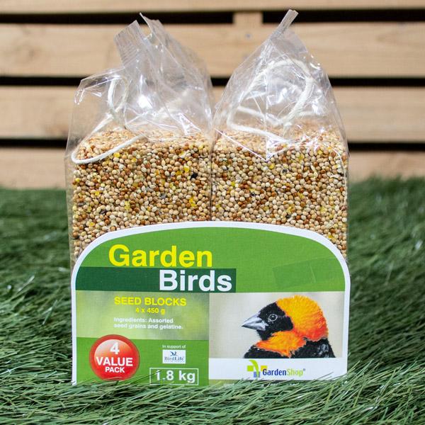 70041106 - Garden Birds Seed Block 4 x 450g (1.8kg)
