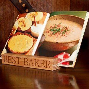 Personalised Kiaat Cook Book Stand