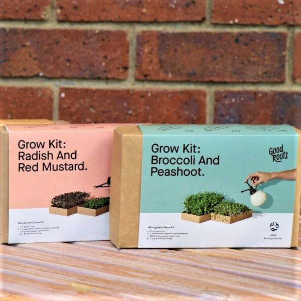70063494 - Mircogreen Kit - Broccoli & Pea Shots And Microgreen Kit- Radish & Red Mustard