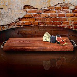 Personalised Kiaat wood French loaf board