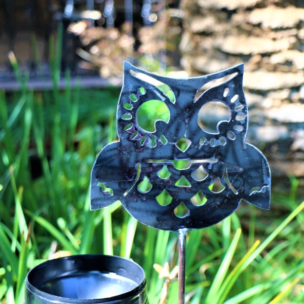 70063876 - Gift Feeder Steel Owl with Rain Gauge and Seeds (3)
