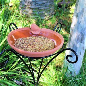 Bird feeder With Stand And 2kg of wild bird  Seeds
