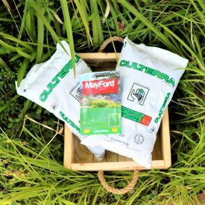 Wooden Box With Potting Soil and Mayford Seeds