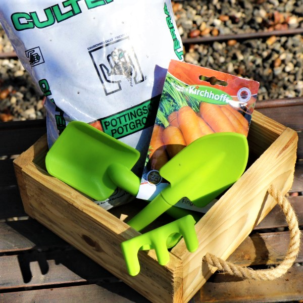 70064723 -Wooden Box With Kiddies Plastic Tool set, Potting Soil And Packet of seeds (4)