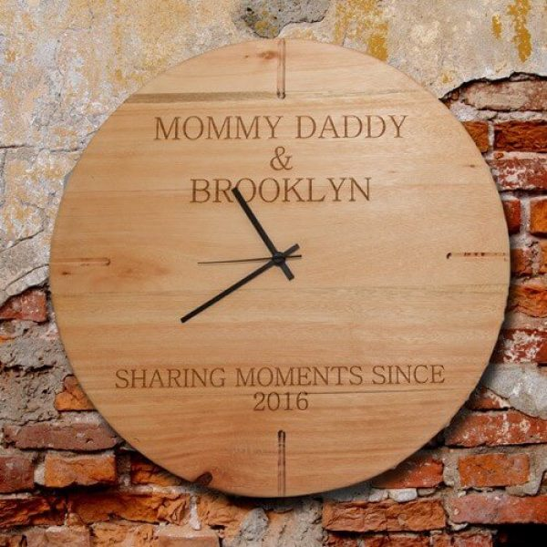Wooden Personalised Clock
